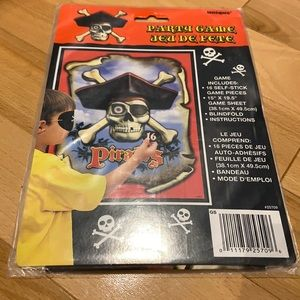 FREE Pirate Pin the Tail Party Game NWT